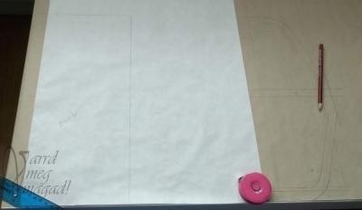 18. Rajzold át zsírpapírra a zseb szabásmintáját